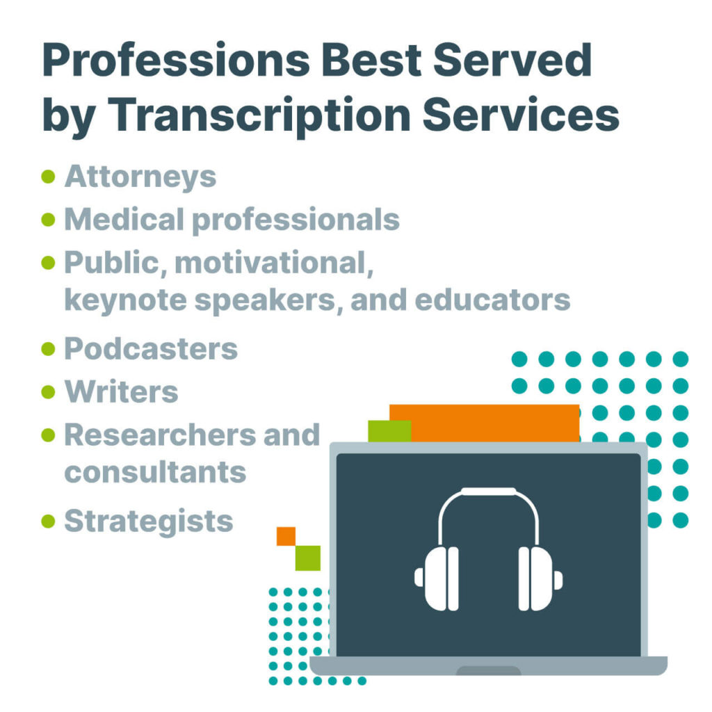 Professions Needing Transcription Services